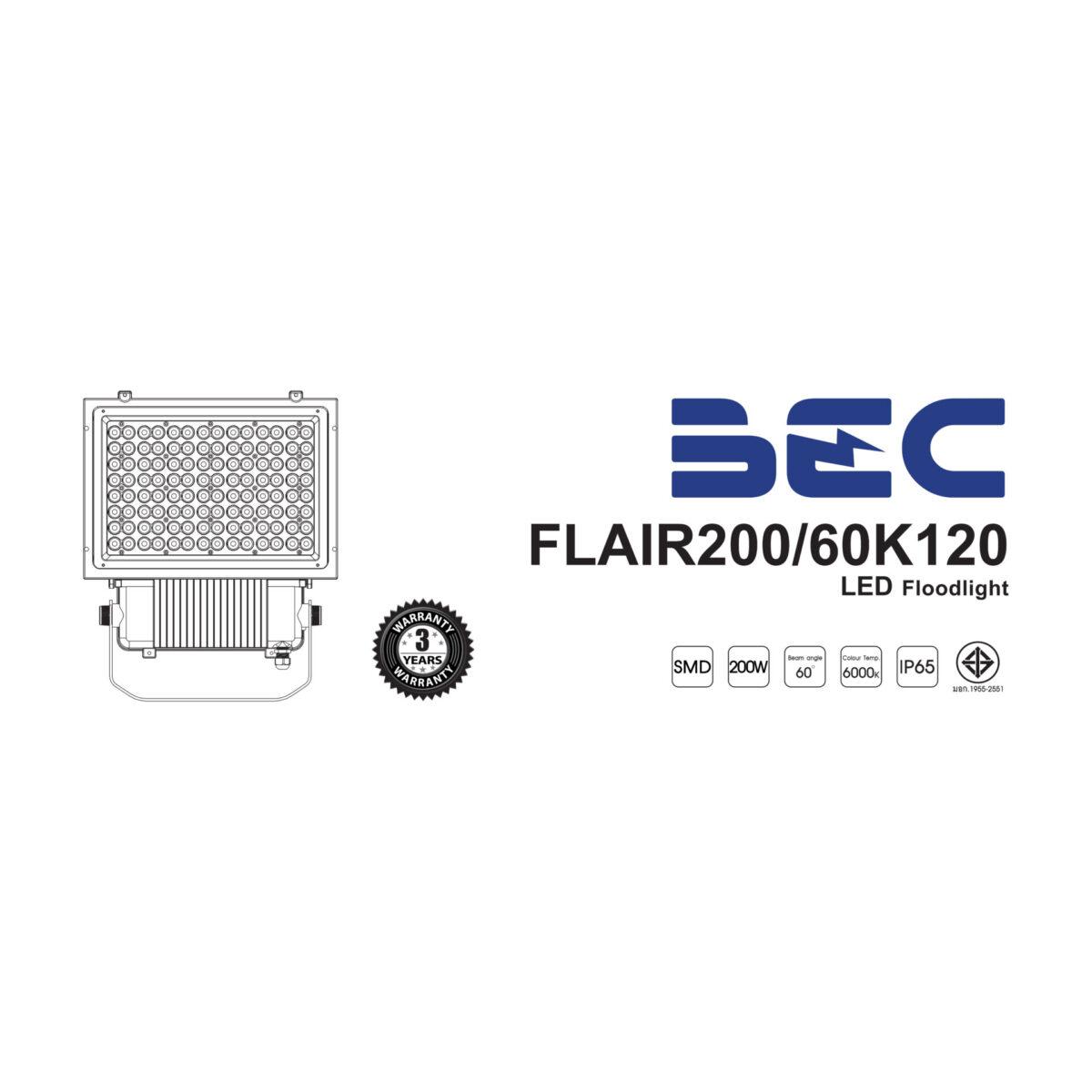 โคมไฟฟลัดไลท์ LED รุ่น Flair