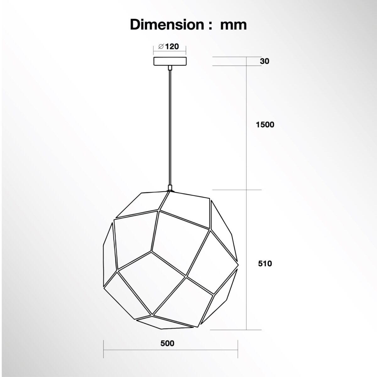 โคมไฟแขวนเพดาน รุ่น 3W-003