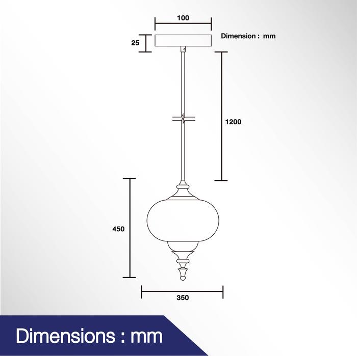 โคมไฟแขวนเพดาน รุ่น DAS-003