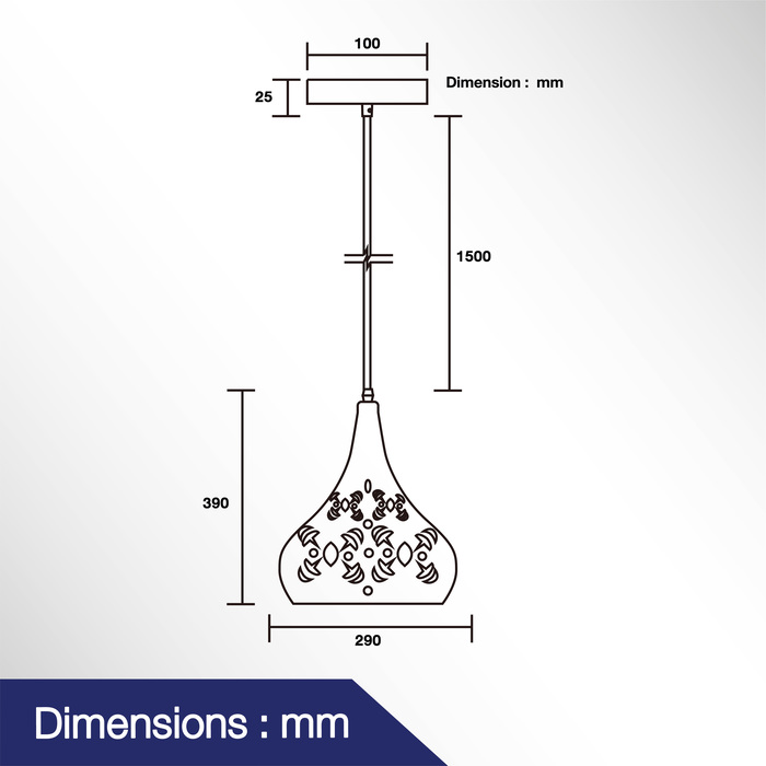 โคมไฟแขวนเพดาน รุ่น DAS-00501