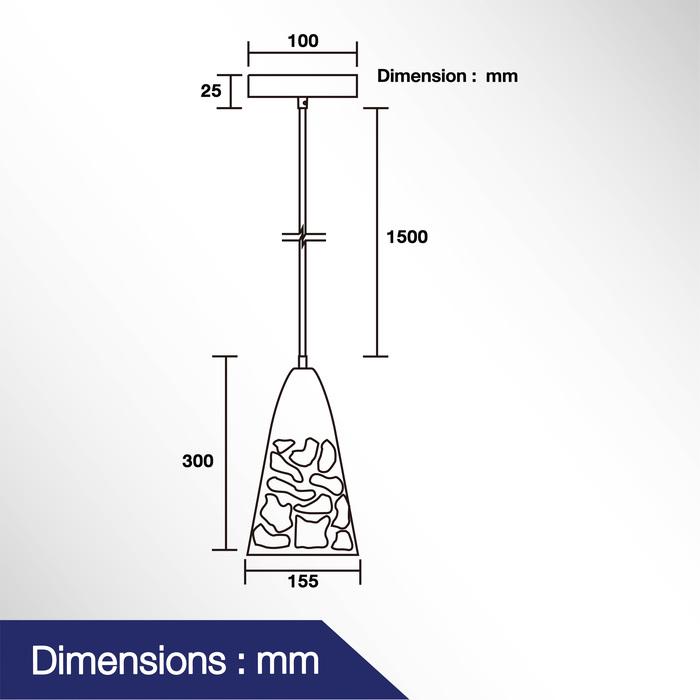 โคมไฟแขวนเพดาน รุ่น DAS-00514