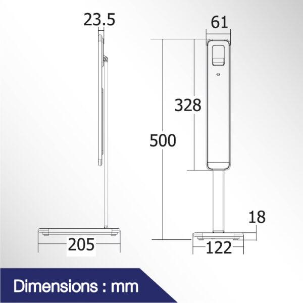 โคมไฟตั้งโต๊ะ LED รุ่น DER-516W