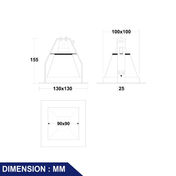 โคมไฟดาวน์ไลท์ รุ่น DJ973-IL