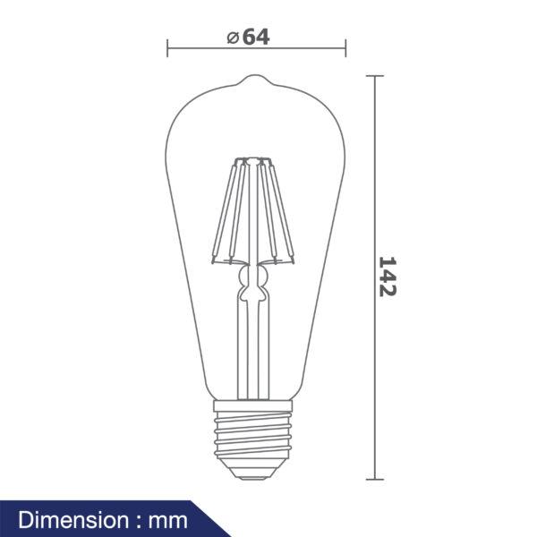 หลอดวินเทจ LED รุ่น Vintage-V/G