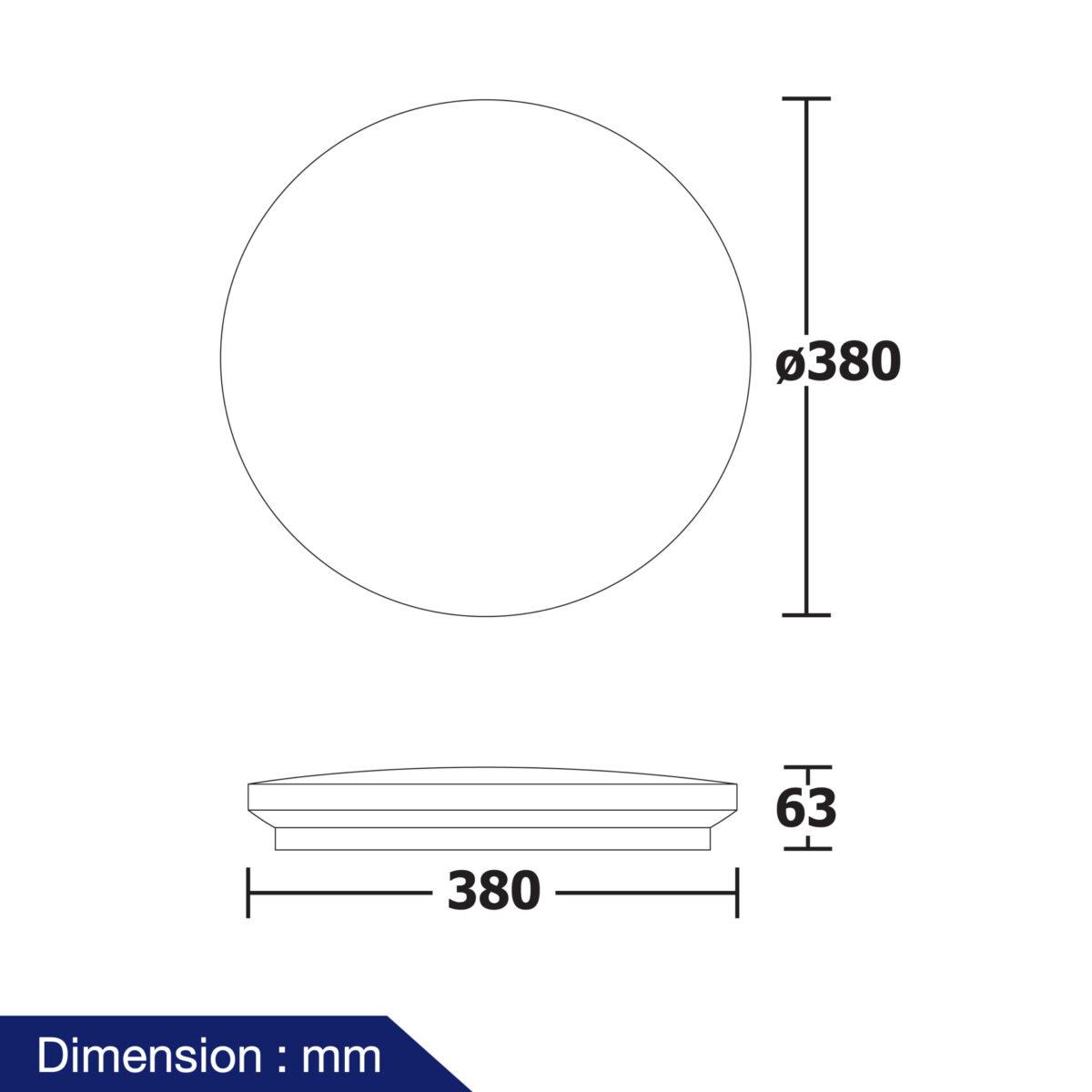 โคมไฟติดลอย LED รุ่น Jasmine-04