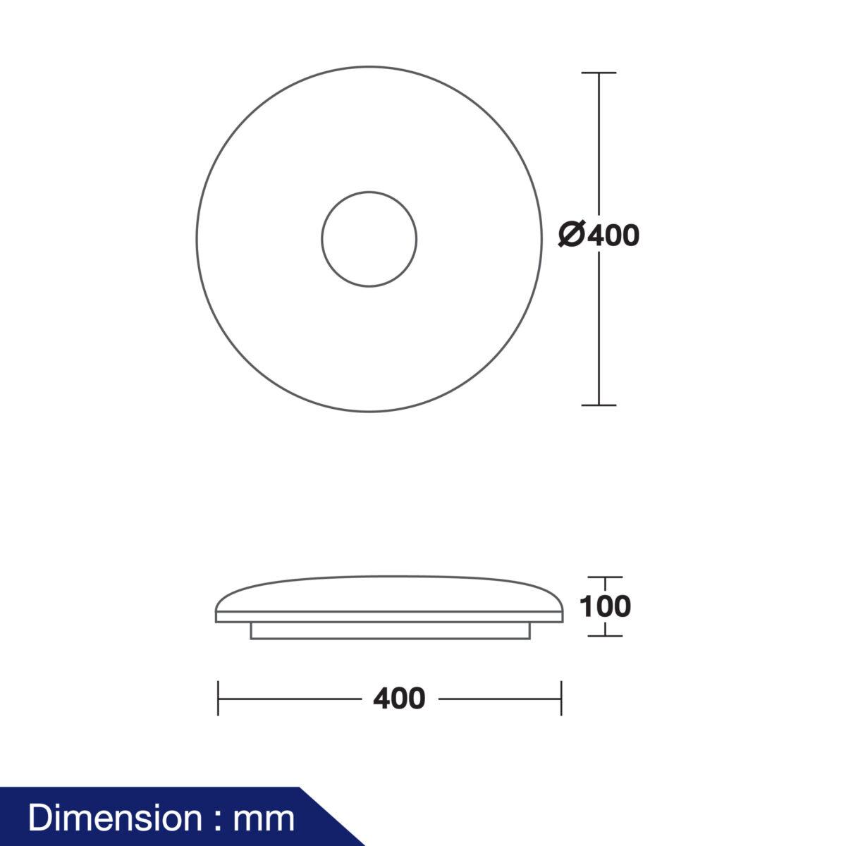 โคมไฟติดเพดาน LED รุ่น Neptune-02