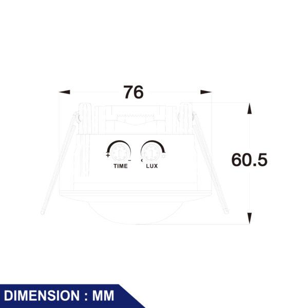 อุปกรณ์ตรวจจับความเคลื่อนไหวฝังเพดาน PIR Sensor รุ่น PRI-300