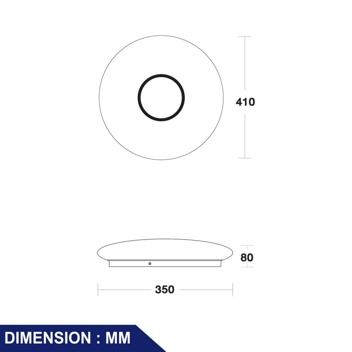 โคมไฟติดลอย LED รุ่น Venus-RO