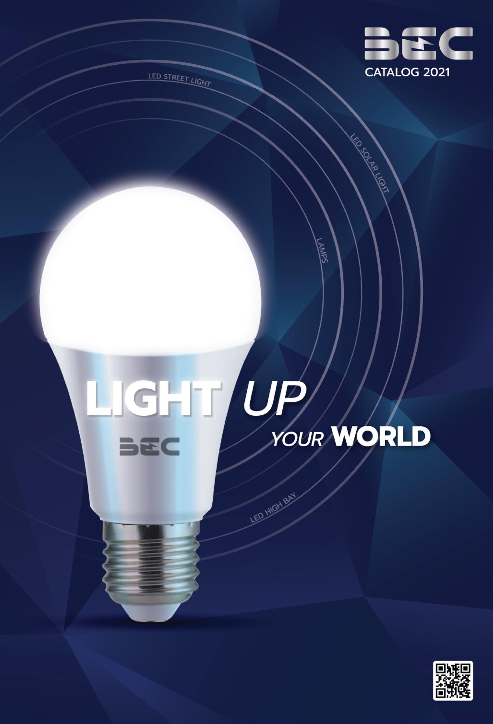 รวมโคมไฟ หลอดไฟ LED ทุกแบบ ทุกการใช้งาน สินค้าแบรนด์ BEC แคตตาล็อค